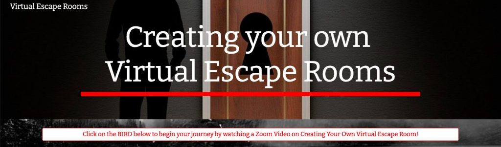 screenshot of Creating your own Virtual Escape Room web page