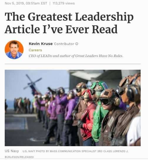 Forbes Greatest Leadership Article