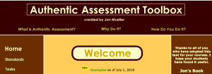 Authentic Assessment website preview