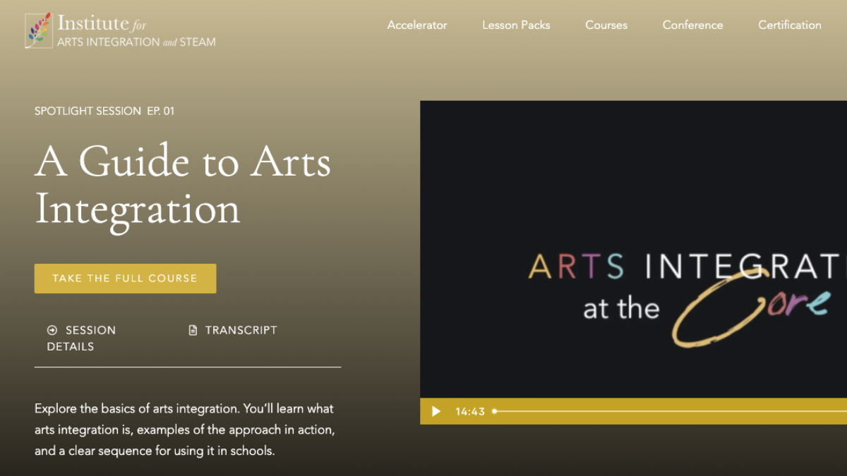 A guide to arts integration